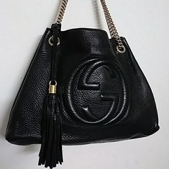 GUCCI Handbags - GUCCI SOHO LEATHER TOTE
